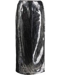 ROTATE BIRGER CHRISTENSEN Caitlin ミラースカート - メタリック