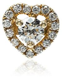 Rosa De La Cruz - Diamond Heart Single Stud Earring - Lyst