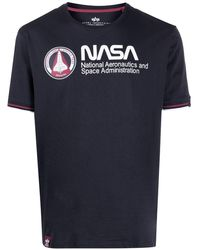 Alpha Industries Nasa T-shirt - Blue