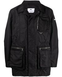 Marine Serre ジップポケット ジャケット - ブラック