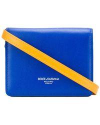 Dolce & Gabbana Logo Print Mini Bag - Blue