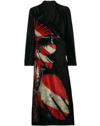 Yohji Yamamoto Geruite Jas - Zwart
