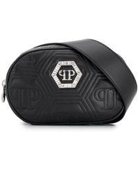Philipp Plein Crystal Belt Bag - Black