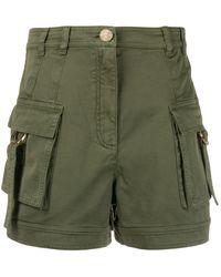 Balmain ポケット ショートパンツ - グリーン