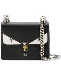 d9cc133ff7 Lyst - Fendi 2jours Bag Bugs Leather Cross-body Bag in Black
