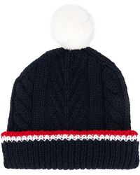 Thom Browne Navy Merino Hat - Blue