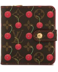 Louis Vuitton 2005 Pre-owned Cherry Print Wallet - Brown