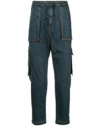 Juun.J - Cargo Pocket Drop-crotch Jeans - Lyst