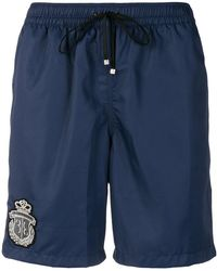 Billionaire - Knee-length Swim Shorts With Patch Embellishment - Lyst