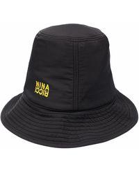Nina Ricci Sombrero de pescador con logo estampado - Negro
