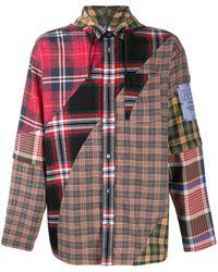 McQ Рубашка В Технике Пэчворк С Капюшоном - Красный