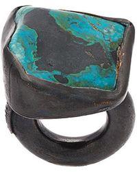 Monies Chrysocolla Copper Ring - Black