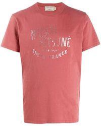 Maison Kitsuné T-shirt à logo imprimé - Rose