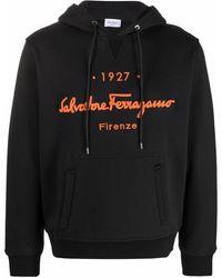 Ferragamo Худи 1927 Signature С Вышитым Логотипом - Черный