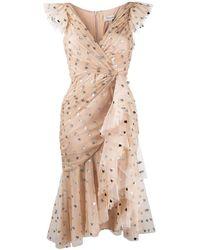 Temperley London Платье Из Тюля В Горох С Блестками - Многоцветный