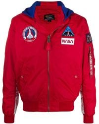 Alpha Industries Nasa Ma-1 Tt Hooded Jacket - Red