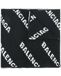 Balenciaga - Schal mit Logo - Lyst