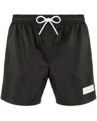 Dondup Logo Patch Swim Shorts - Black