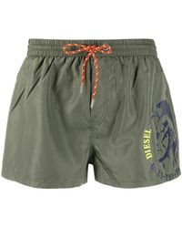 DIESEL Плавки-шорты С Логотипом - Зеленый