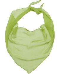 Miu Miu Basic Chiffon Scarf - Green