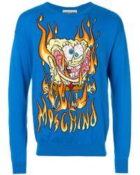 Moschino - Spongebob Flame Sweater - Lyst
