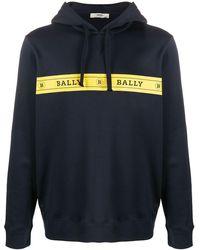 Bally ロゴ パーカー - ブルー