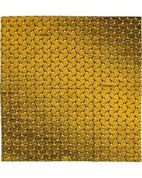 """Supreme Diamond Plate Bandana """"ss 19"""" - Yellow"""