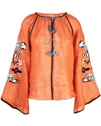 March 11 - Tassel Embellished Blouse - Lyst
