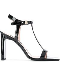 MSGM T-bar Strappy Sandals - Black