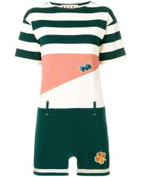 Marni - Colourblock Striped T-shirt Dress - Lyst
