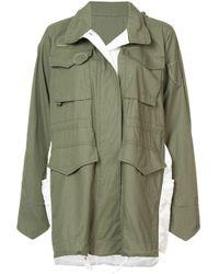 Sacai Oversized Parka Jacket - グリーン
