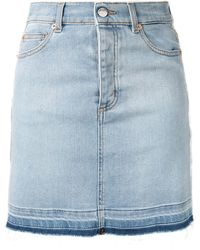 Zadig & Voltaire Stripe-side Denim Mini Skirt - Blue