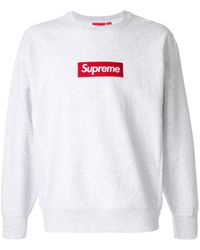 Supreme Box Logo Sweatshirt - Gray