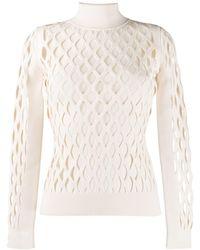 Fendi Пуловер С Высоким Воротником - Многоцветный