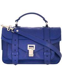 Proenza Schouler Sac à bandoulière Ps1 Tiny-Lux - Bleu