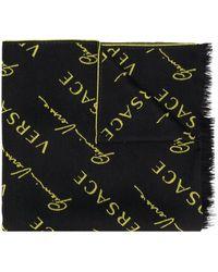 Versace ロゴ スカーフ - ブラック