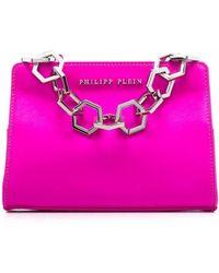 Philipp Plein Iconic サテンハンドバッグ - ピンク