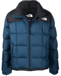 The North Face ジップアップ パデッドジャケット - ブルー