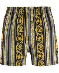 Versace Пижамные Шорты С Принтом Barocco - Черный