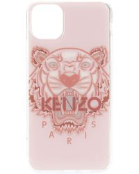 KENZO Чехол Tiger Для Iphone 11 Pro Max - Розовый