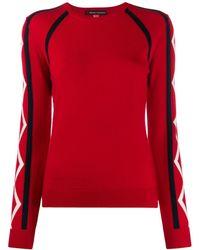 Perfect Moment Maglione Super Stripes - Rosso