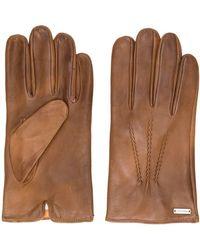 BOSS - Handschuhe mit Logo-Schild - Lyst