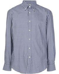 Brunello Cucinelli Рубашка В Клетку Гингем - Синий