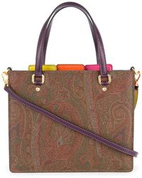 Etro - Paisley Patterned Organiser Tote - Lyst