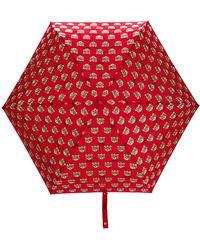 Moschino Paraguas Mini Teddy - Rojo