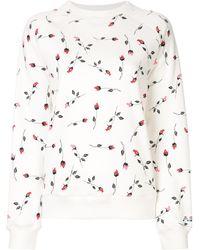 Adam Selman Sport Rose Pattern Sweatshirt - White