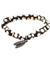 Loree Rodkin - Beaded Diamond Wing Bracelet - Lyst