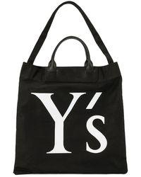 Y's Yohji Yamamoto Парусиновая Сумка-шопер С Логотипом - Черный