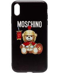 Moschino Iphone X Hoesje Met Logo - Zwart