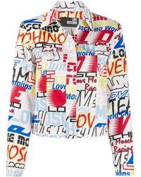 Love Moschino Джинсовая Куртка С Логотипом - Белый